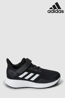 adidas Run Black Duramo 9 Junior Trainers