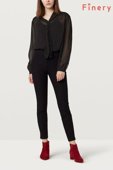 Finery Black Ackland Skinny Trouser