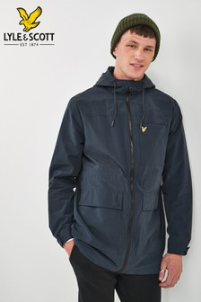 Lyle & Scott Navy Micro Fleece Lined Jacket