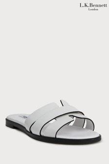 L.K.Bennett White Crissy Flat Sandal