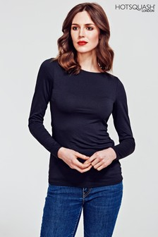 HotSquash Black Easy Elegance Top