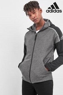 adidas ZNE Hybrid Black Zip Through Hoody