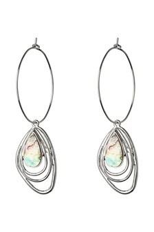 Shell Effect Metal Drop Earrings