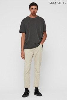AllSaints Beige Twill Ridge Slim Jeans