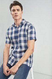 Short Sleeve Check Madras Shirt