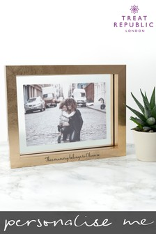 Personalised Metallic Copper Photo Frame by Treat Republic