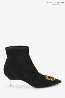 Kurt Geiger London Black Bellevue Ankle Boots