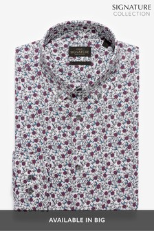 Slim Fit Single Cuff Floral Printed Signature Shirt
