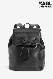 Karl Lagerfeld Black Signature Backpack