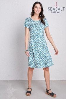 Seasalt Blue Overprinting Dress