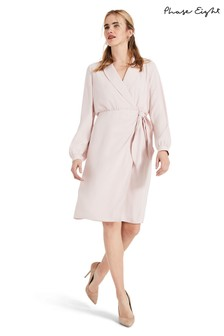 Phase Eight Pink Briella Wrap Woven Dress