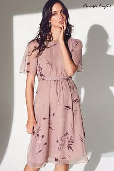 Phase Eight Pink Norah Georgette Dress