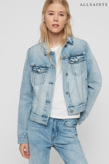 AllSaints Blue Wash Denim Jacket