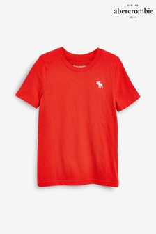 Abercrombie & Fitch Red Basic Crew T-Shirt