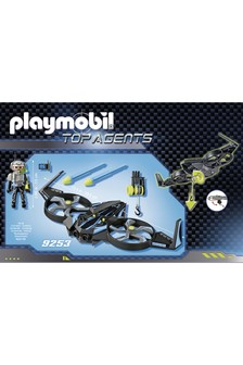 Playmobil® 9253 Top Agents Mega Drone With Firing Weapons