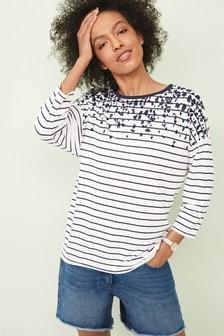 Oversized 3/4 Sleeve T-Shirt