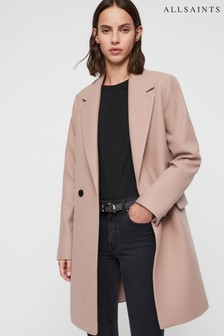 AllSaints Nude Formal Dree Overcoat