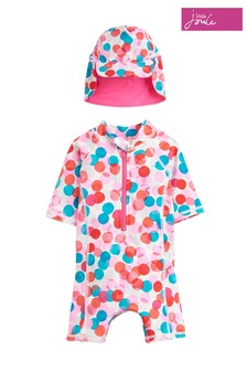 Joules Pink Sun Printed Swimsuit Set