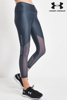 Under Armour Heat Gear Mesh Ankle Crop Leggings