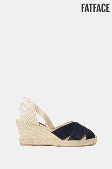 FatFace Blue Mia High Wedge Espadrille