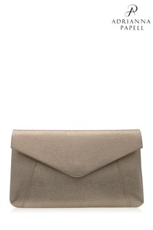 Adrianna Papell Gold Kacee Envelope Clutch