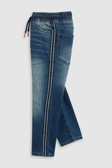 Side Stripe Pull-On Jeans (3-16yrs)