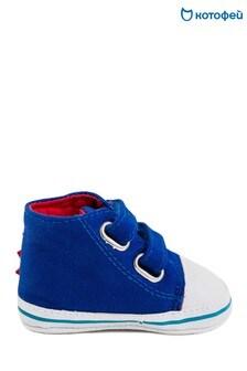 Ярко-синие ботинки-пинетки на шнуровке Kotofey