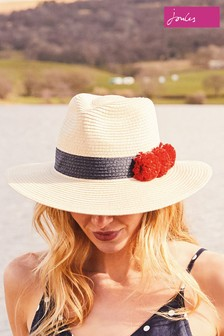 Joules Natural Dora Sun Hat With Poms