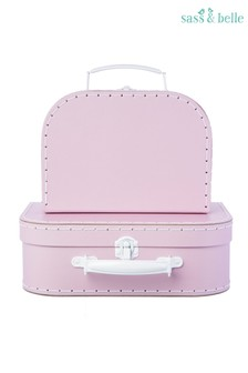 Set of 2 Sass & Belle Pink Suitcases