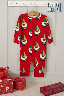 Personalised Baby Elf Sleepsuit