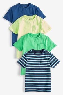 Набор из четырех футболок с коротким рукавом (3-16 лет)