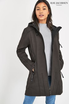 Ilse Jacobsen Black Softshell Raincoat