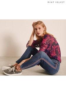 Mint Velvet Joliet High Rise Skinny-Jeans mit Seitenstreifen