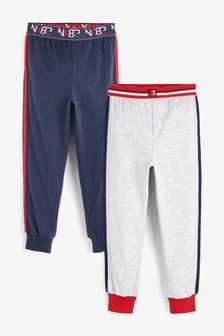 2 Pack Long Leg Pyjama Trousers (3-16yrs)