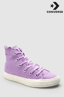 Converse Youth Lilac Washed Frill Chuck High Trainer