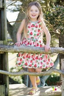 Frugi Organic Strawberry Print Party Dress