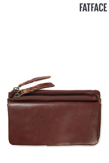FatFace Brown Ada Double Zip Purse