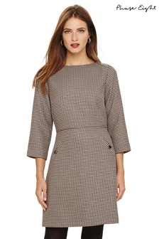 Phase Eight Brown Heritage Check Dress