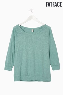 FatFace Green Kelly 3 Quarter Yoga Tee