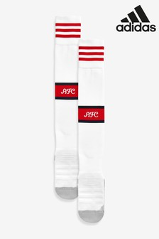 adidas White Arsenal FC 2019/2020 Home Socks