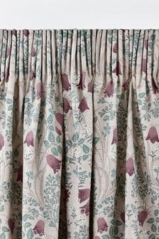 Зеркальные шторы с цветочным рисунком и плиссировкой Aubrey