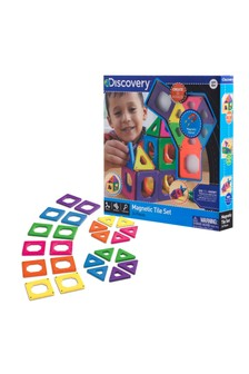 Discovery Mindblown Toy Magnetic Tiles 24 Pieces