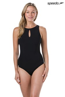 Speedo® Vivashine Badeanzug, schwarz
