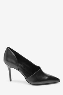 Asymmetric D'Orsay Court Shoes