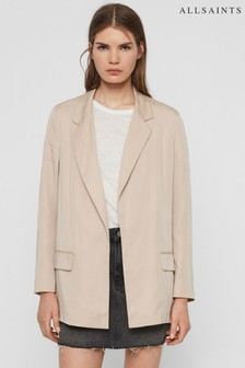 AllSaints Pale Pink Alva Tailored Blazer
