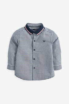 Long Sleeve Shirt With Jersey Collar (3mths-7yrs)