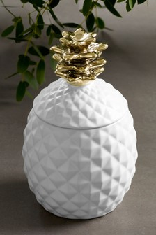 Tropical Pineapple Ceramic Fruit Candle
