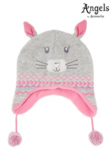 Angels By Accessorize Grey Becci Bunny Chullo