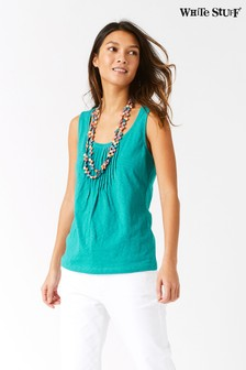 White Stuff Hannah Fairtrade Green Jersey Vest