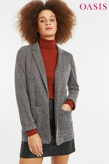 Oasis Grey Ponte Tweed Jacket